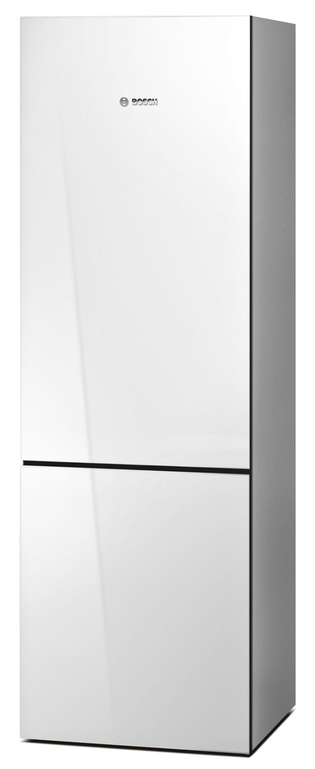 Refrigerators and Freezers - Bosch White Glass Bottom-Freezer Refrigerator (10.0 Cu. Ft.) - B10CB80NVW