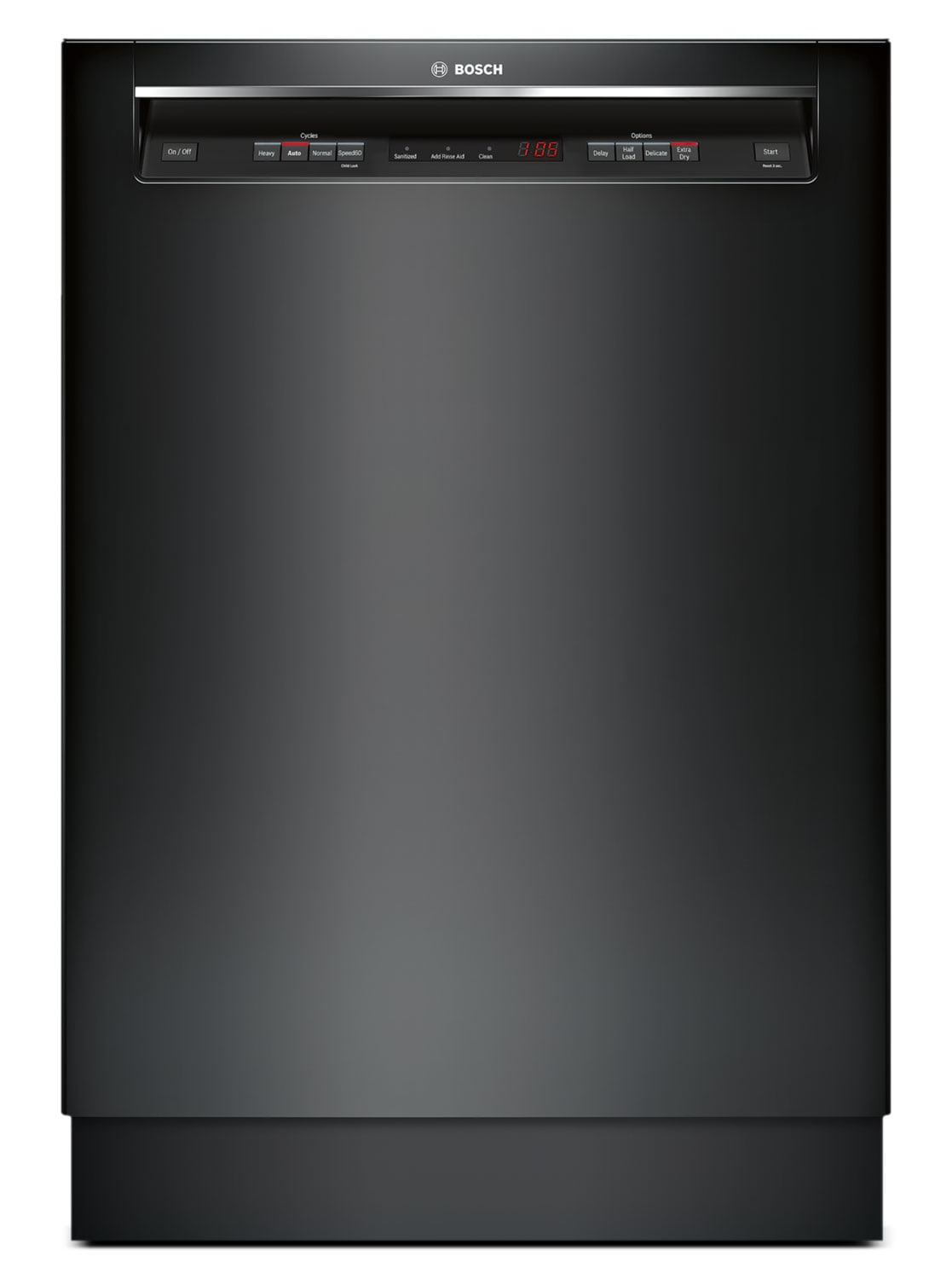 "Clean-Up - Bosch Black 24"" Dishwasher - SHE4AV56UC"