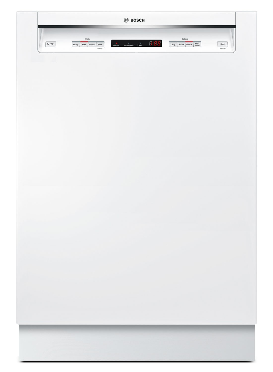 """Bosch 300 Series 24"""" Recessed Handle Built-In Dishwasher – SHE53T52UC"""