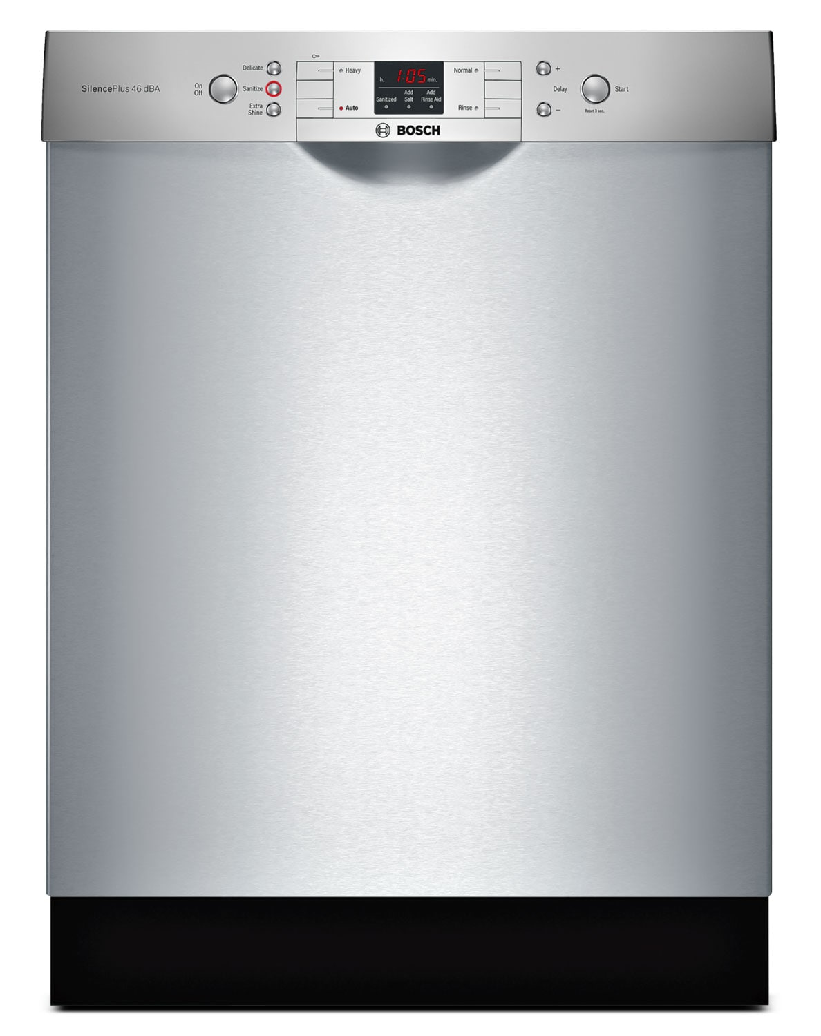 "Bosch 300 Series 24"" Recessed Handle Dishwasher – SGE53U55UC"