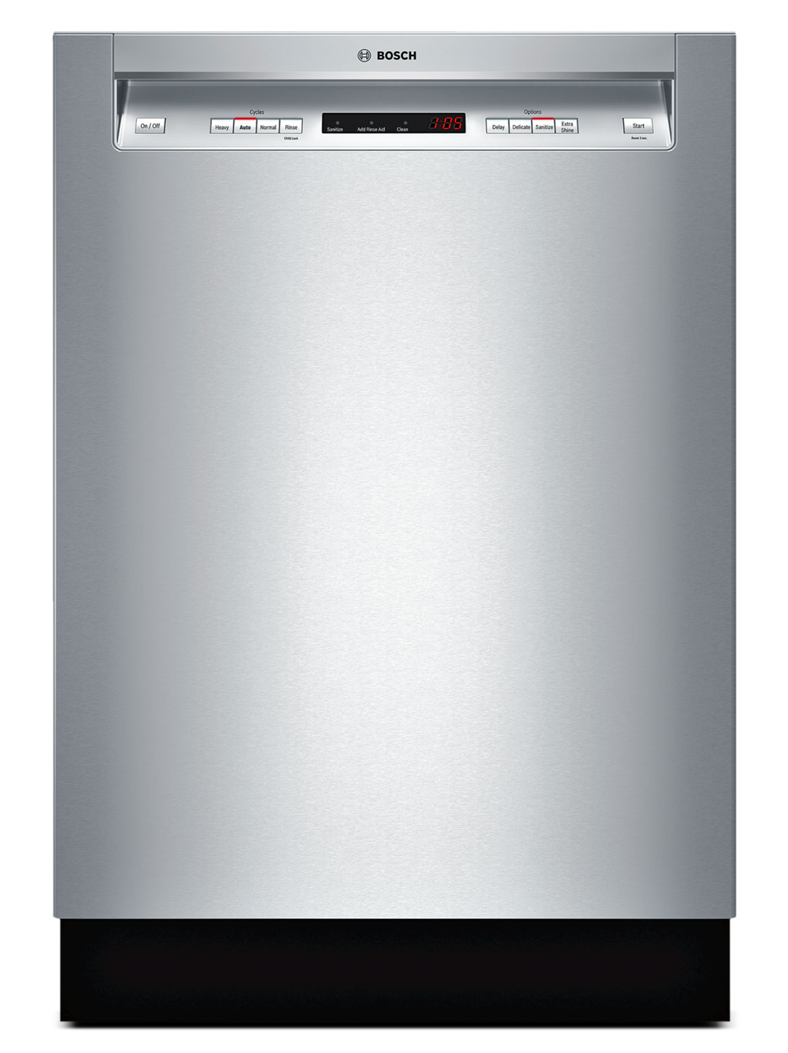 """Clean-Up - Bosch Stainless Steel 24"""" Dishwasher - SHE53T55UC"""