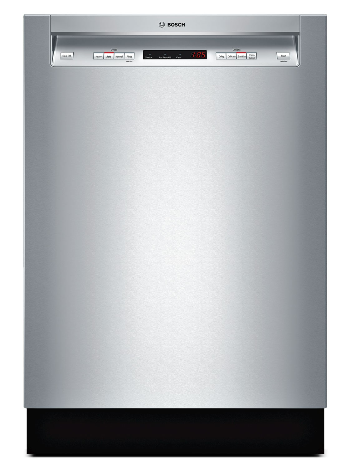 """Bosch 300 Series 24"""" Recessed Handle Built-In Dishwasher – SHE53T55UC"""