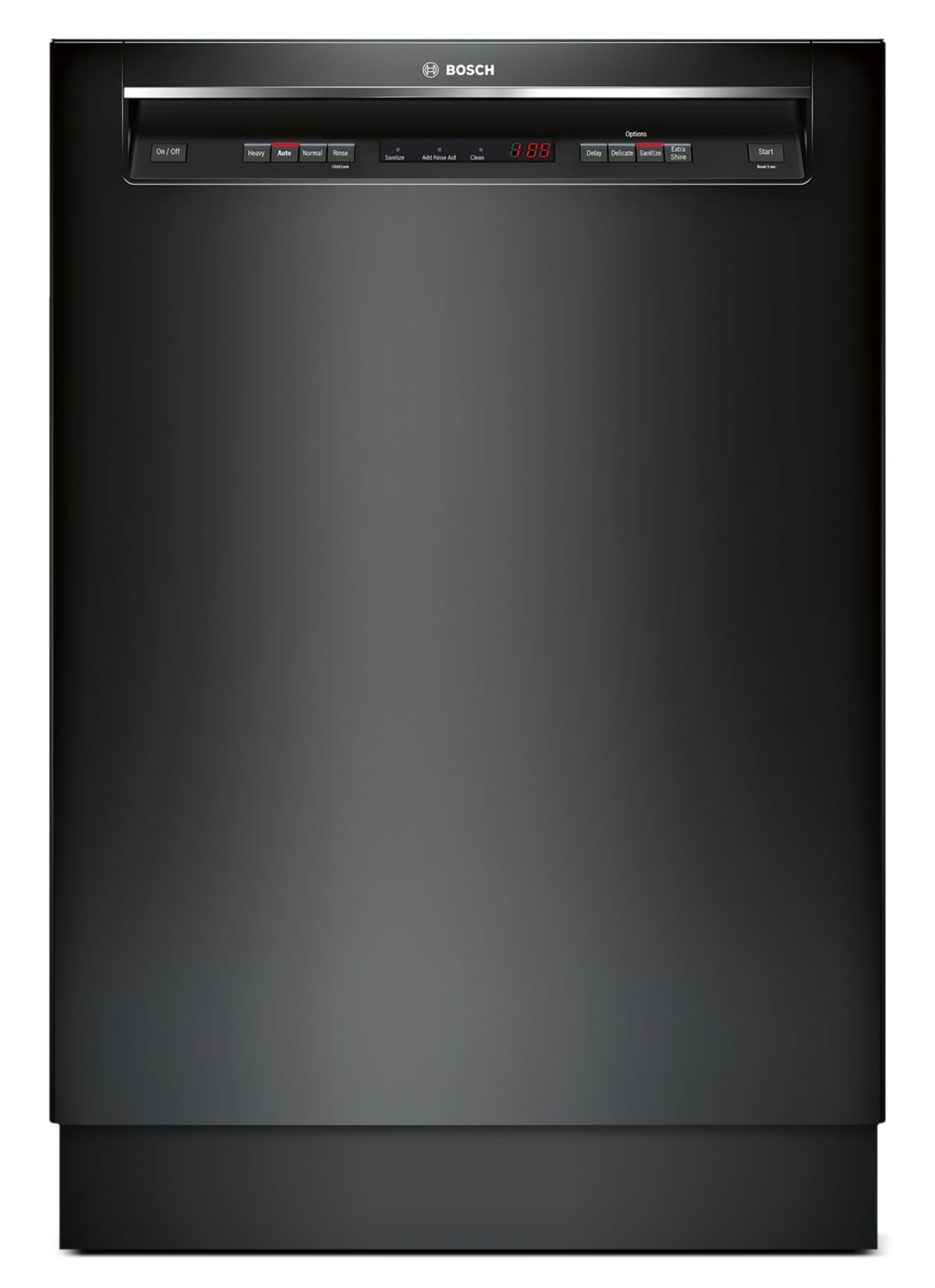 """Bosch 300 Series 24"""" Recessed Handle Built-In Dishwasher – SHE53T56UC"""