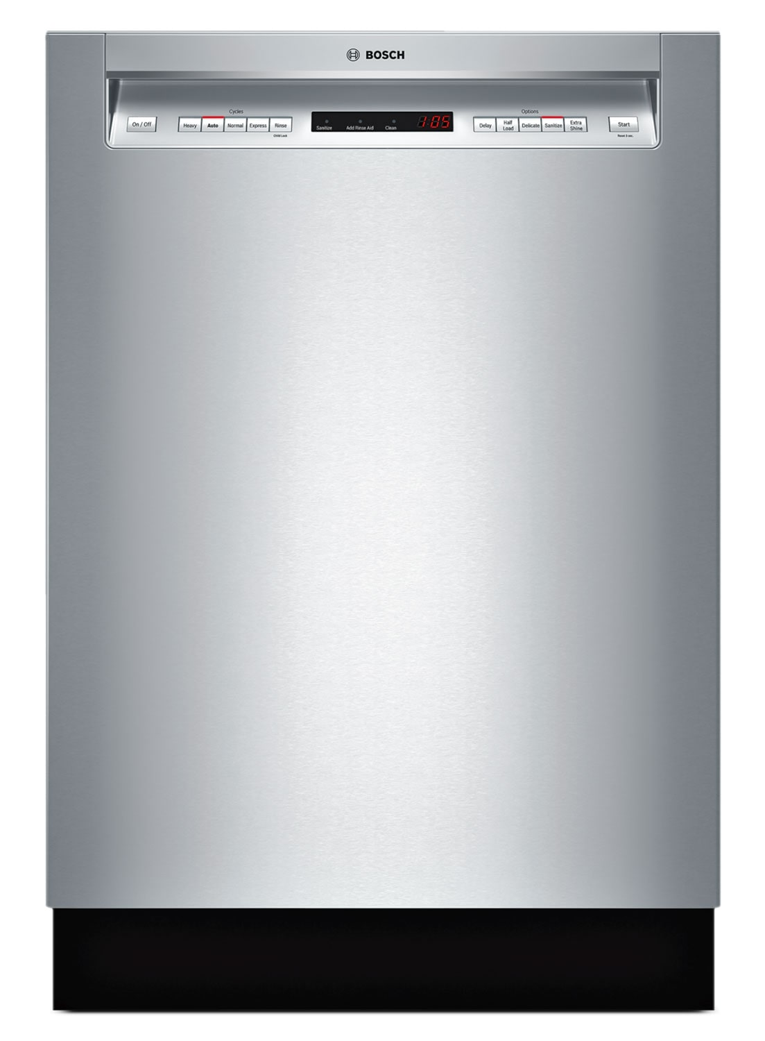 "Clean-Up - Bosch Stainless Steel 24"" Dishwasher - SHE65T55UC"