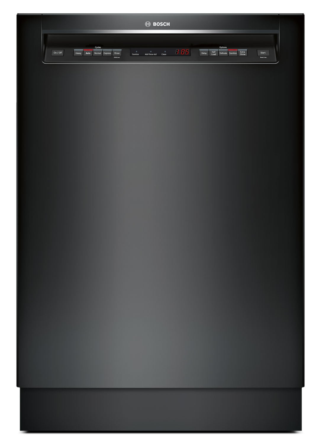 "Clean-Up - Bosch 500 Series 24"" Recessed Handle Dishwasher - Black"