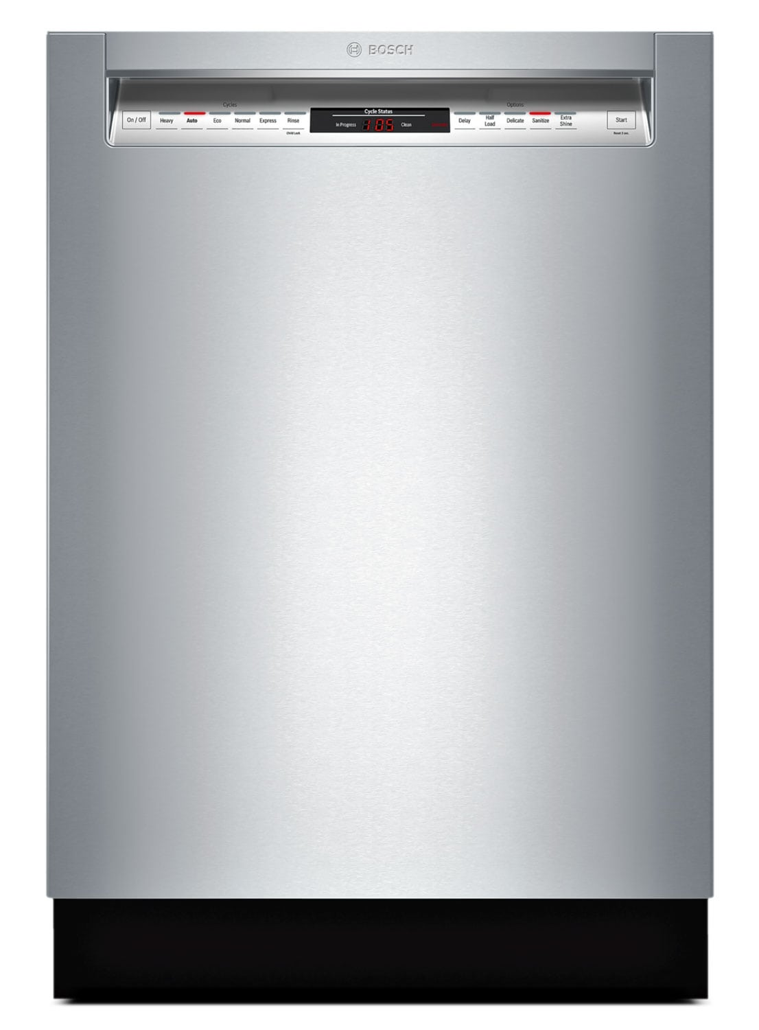 """Bosch 800 Series 24"""" Recessed Handle Built-In Dishwasher – SHE68T55UC"""