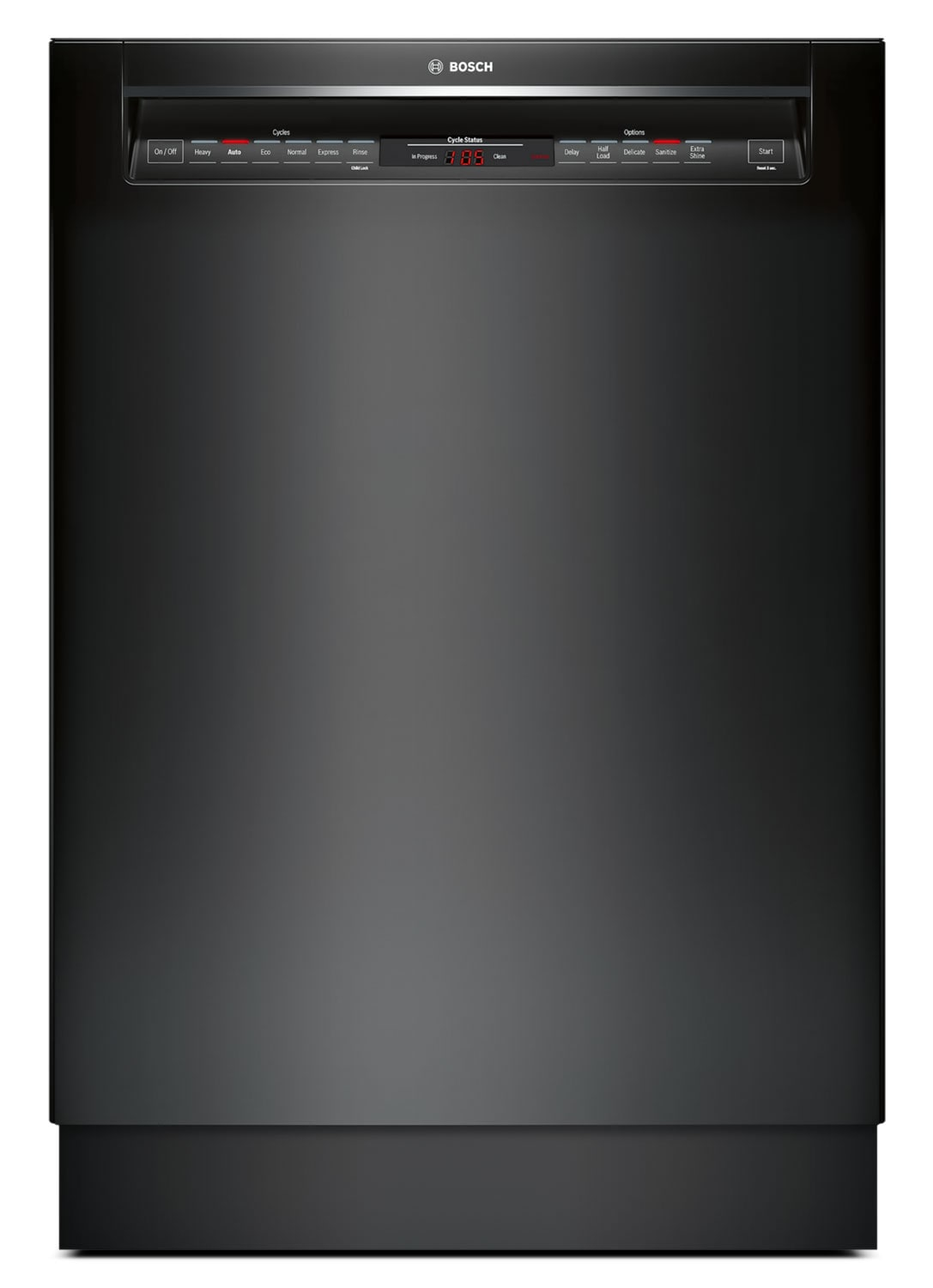 """Bosch 800 Series 24"""" Recessed Handle Built-In Dishwasher – SHE68T56UC"""