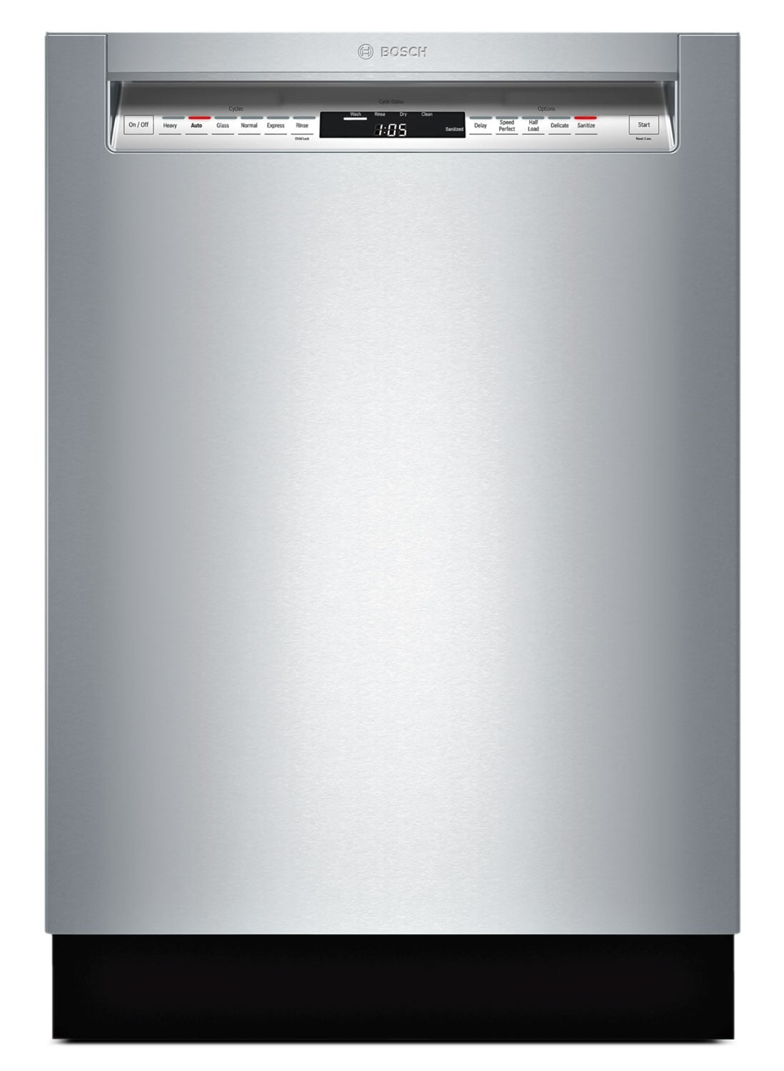 "Clean-Up - Bosch Stainless Steel 24"" Dishwasher - SHE7PT55UC"