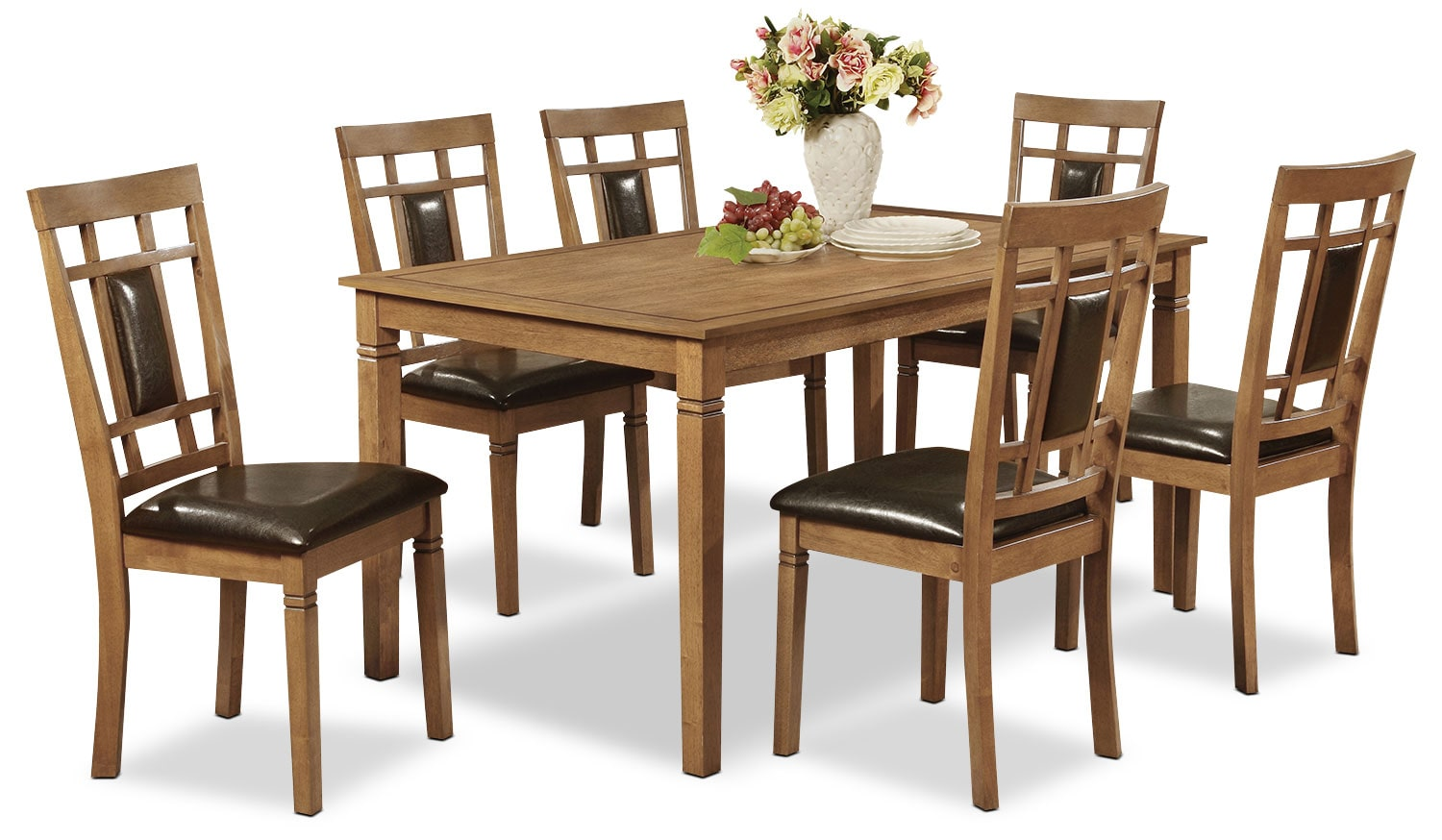 Dining Room Furniture - Aran 7-Piece Dining Package – Light Mango