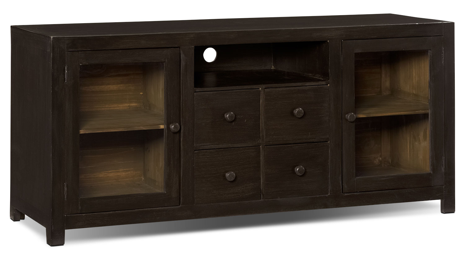 "Artesia 59"" Solid Pine TV Stand"