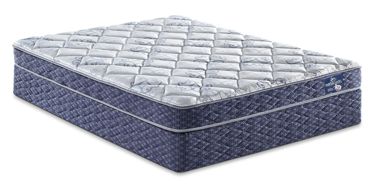 Mattresses and Bedding - Sertapedic® Gingham Tight-Top Full Mattress Set