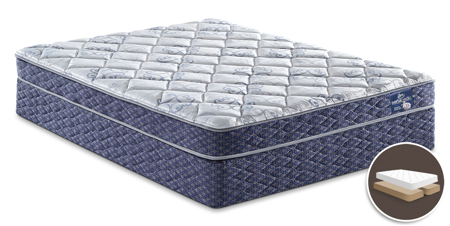 Mattresses and Bedding - Sertapedic® Gingham Tight-Top Split Queen Set