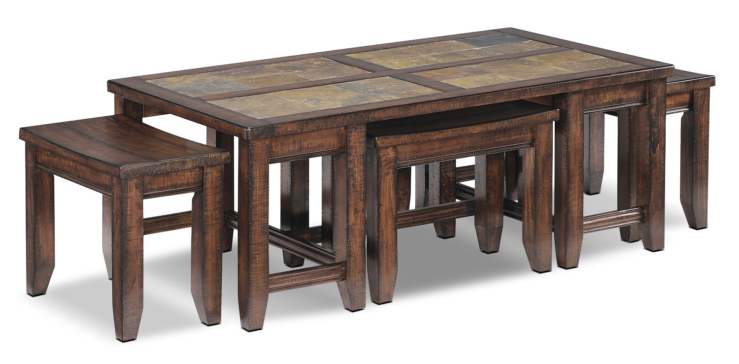 Online Only - Allister Coffee Table - Cinnamon