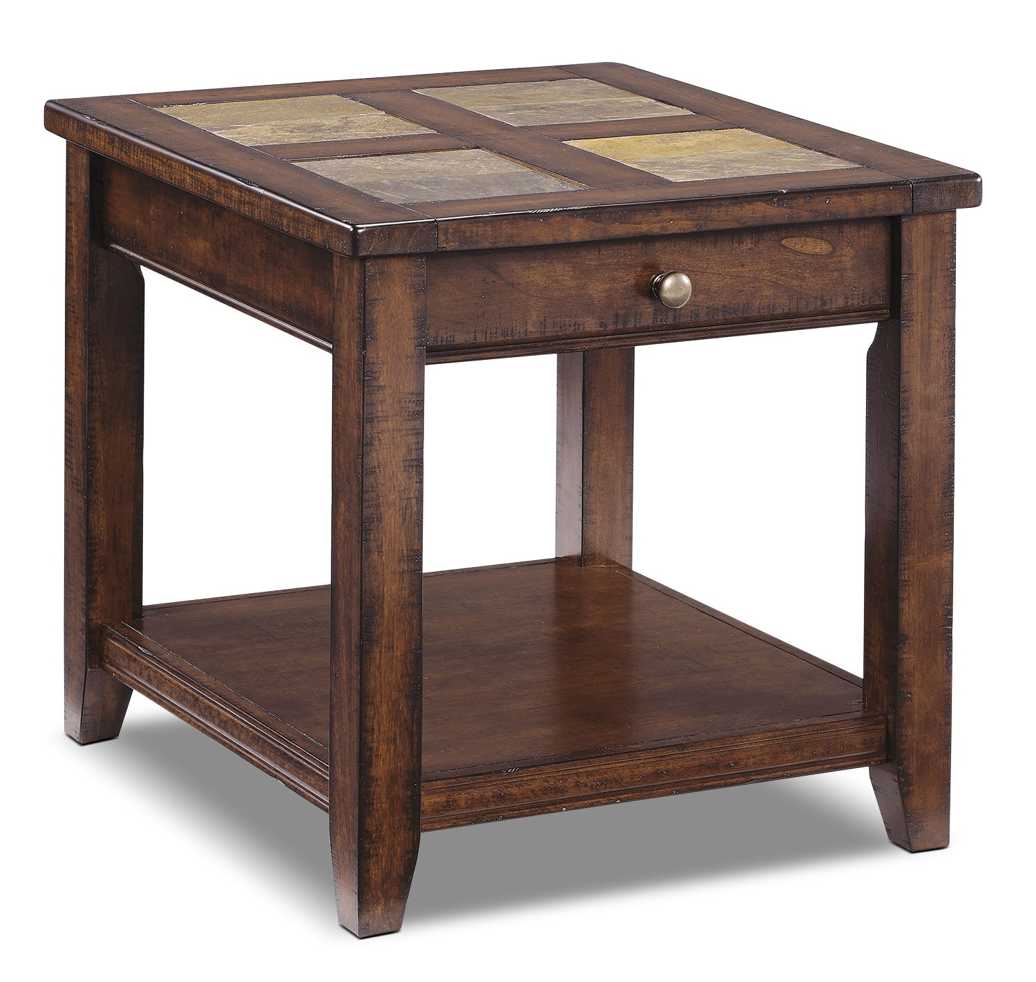 Online Only - Allister End Table - Cinnamon