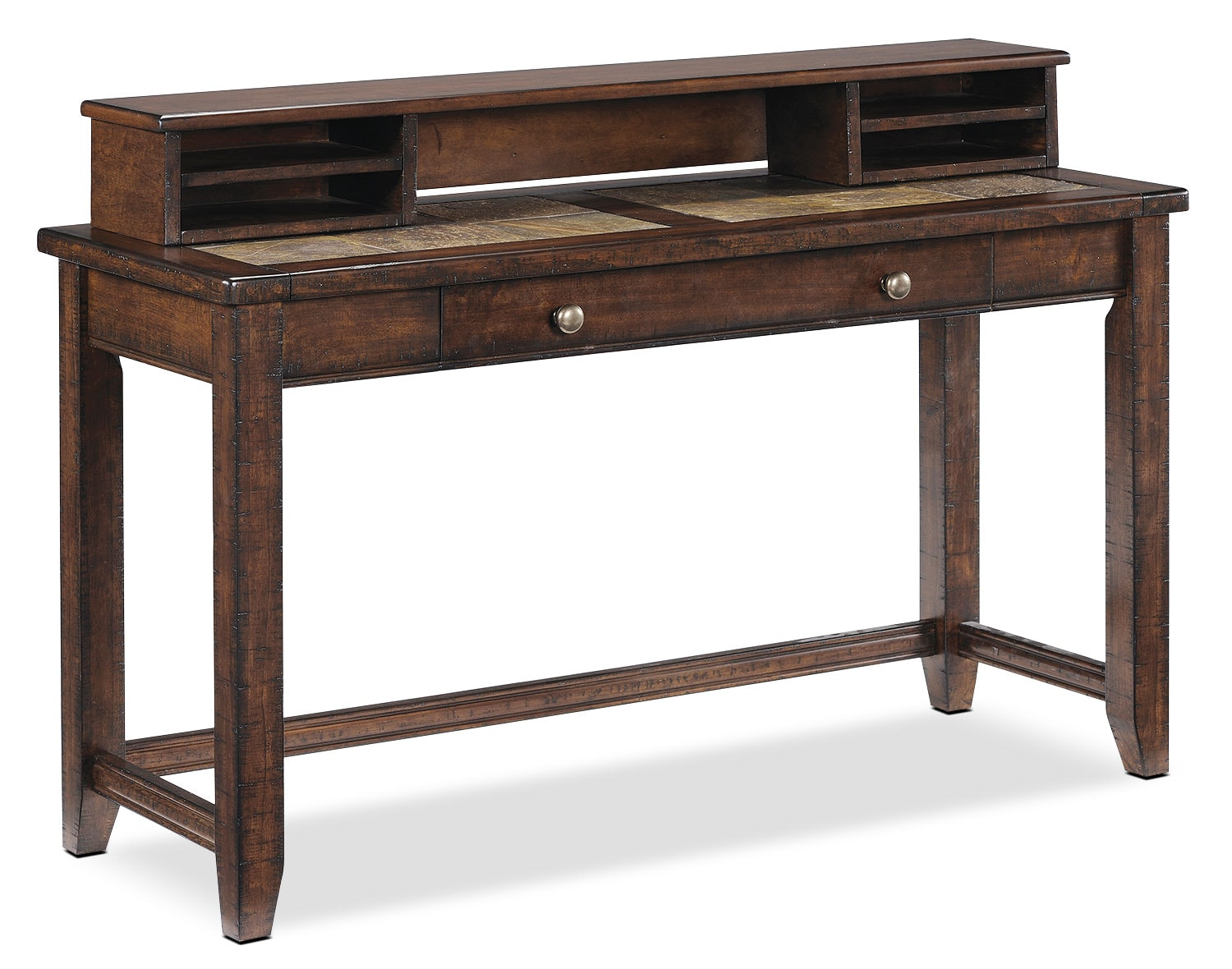 Allister Sofa Desk Table - Cinnamon
