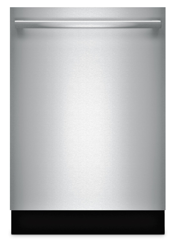 "Bosch 800 Series 24"" Bar-Handle Dishwasher – Stainless Steel"