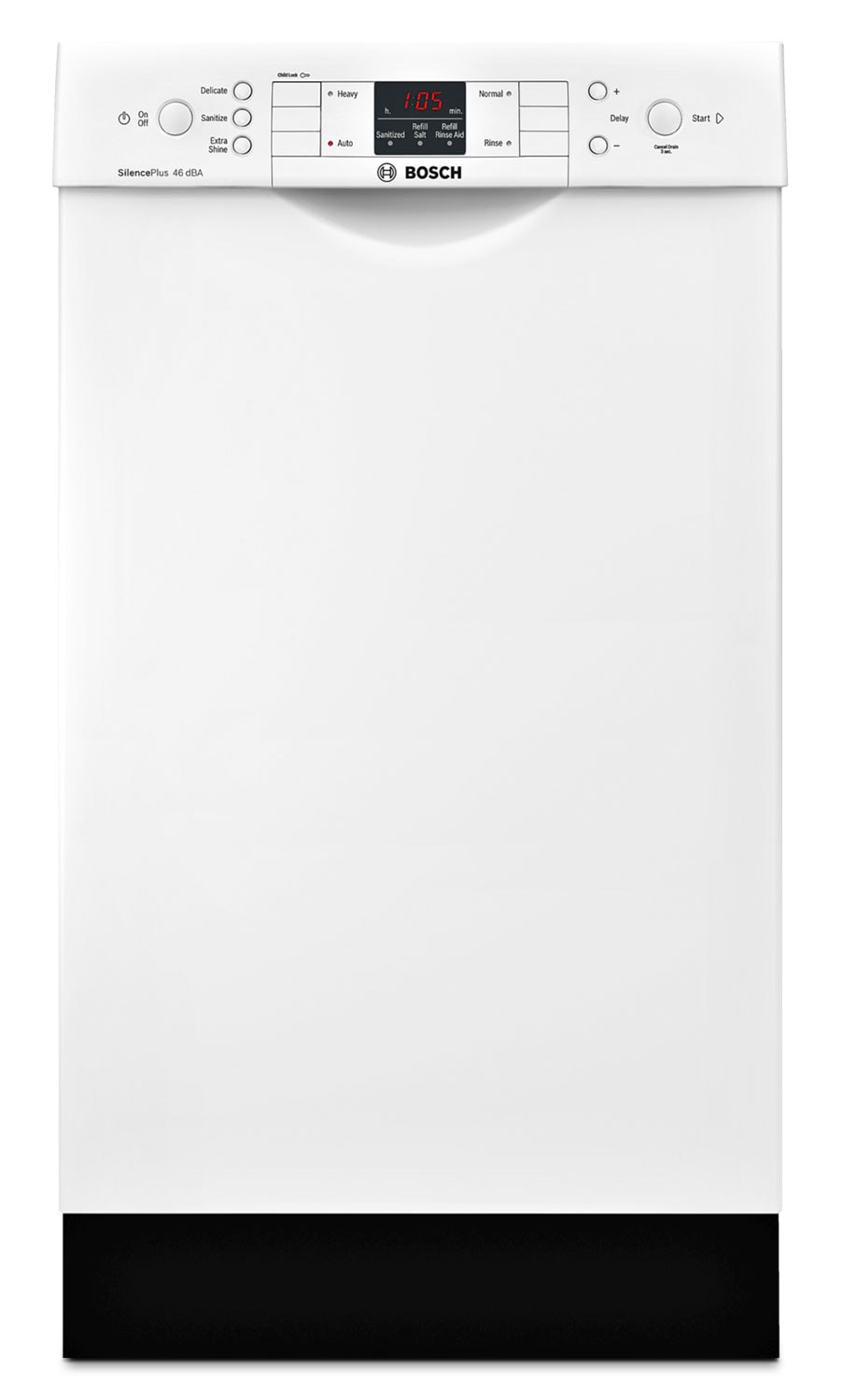 "Clean-Up - Bosch White 18"" Dishwasher - SPE53U52UC"