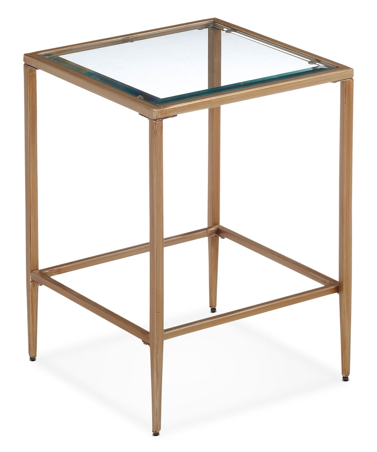 Accent and Occasional Furniture - Harlan End Table - Glass and Gold