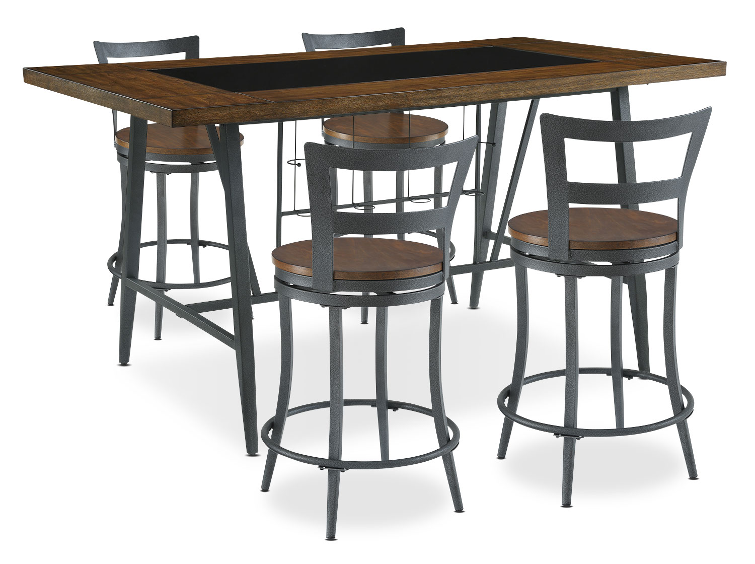 Dining Room Furniture - Nolita 5-Piece Counter-Height Dining Package