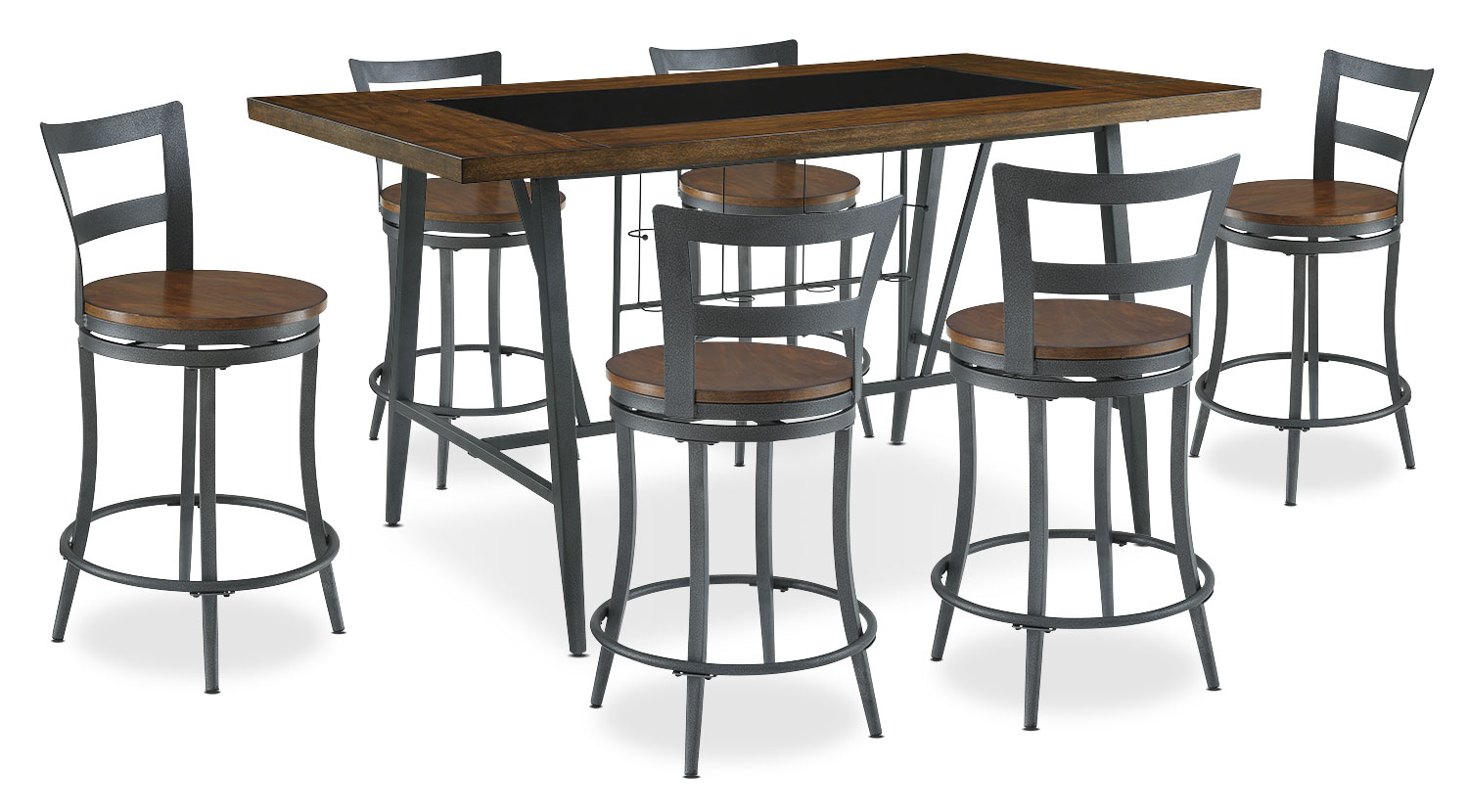 Dining Room Furniture - Nolita 7-Piece Counter-Height Dining Package
