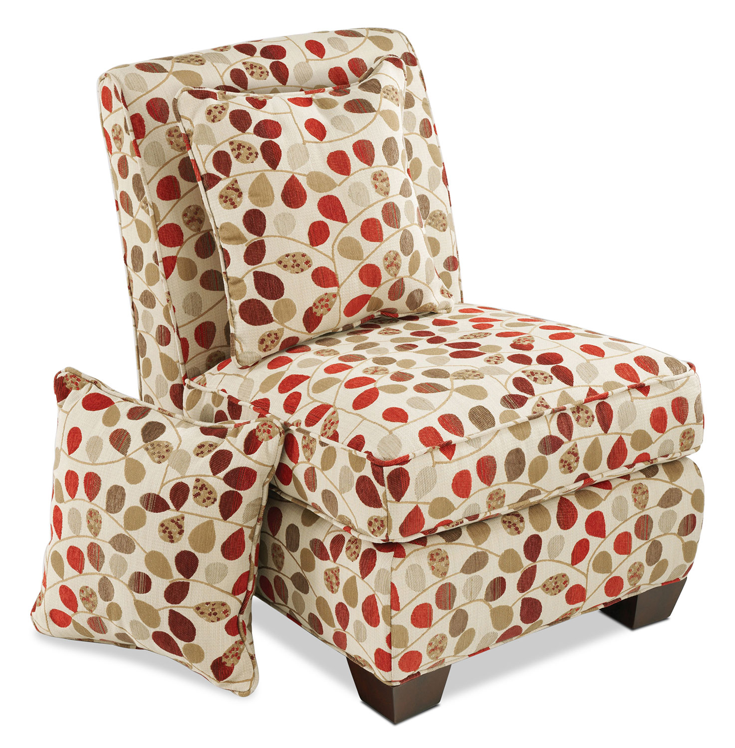 Camellia Armless Chair - Bayberry Rouge