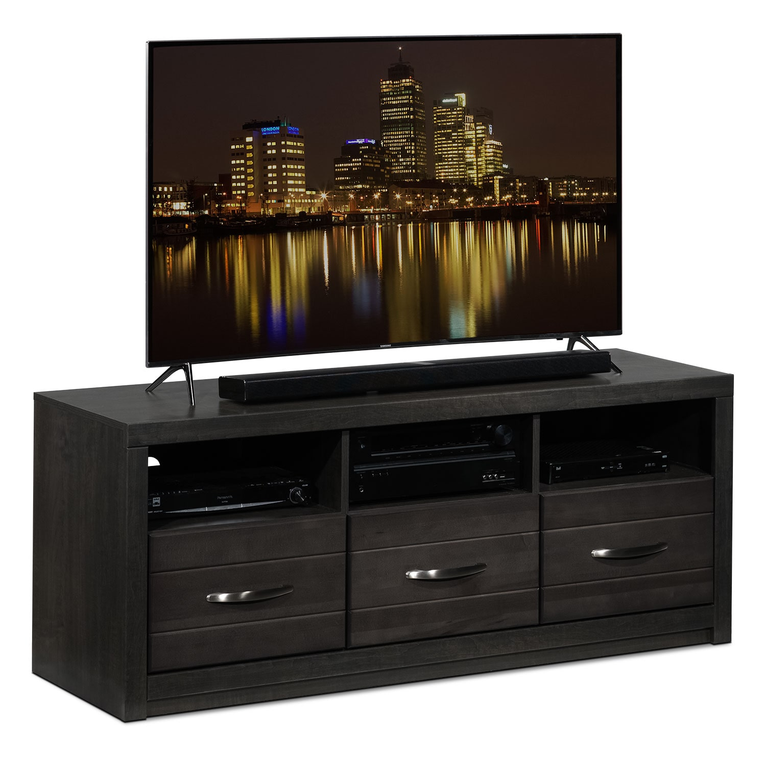 Entertainment Furniture - Exeter TV Console - Charcoal