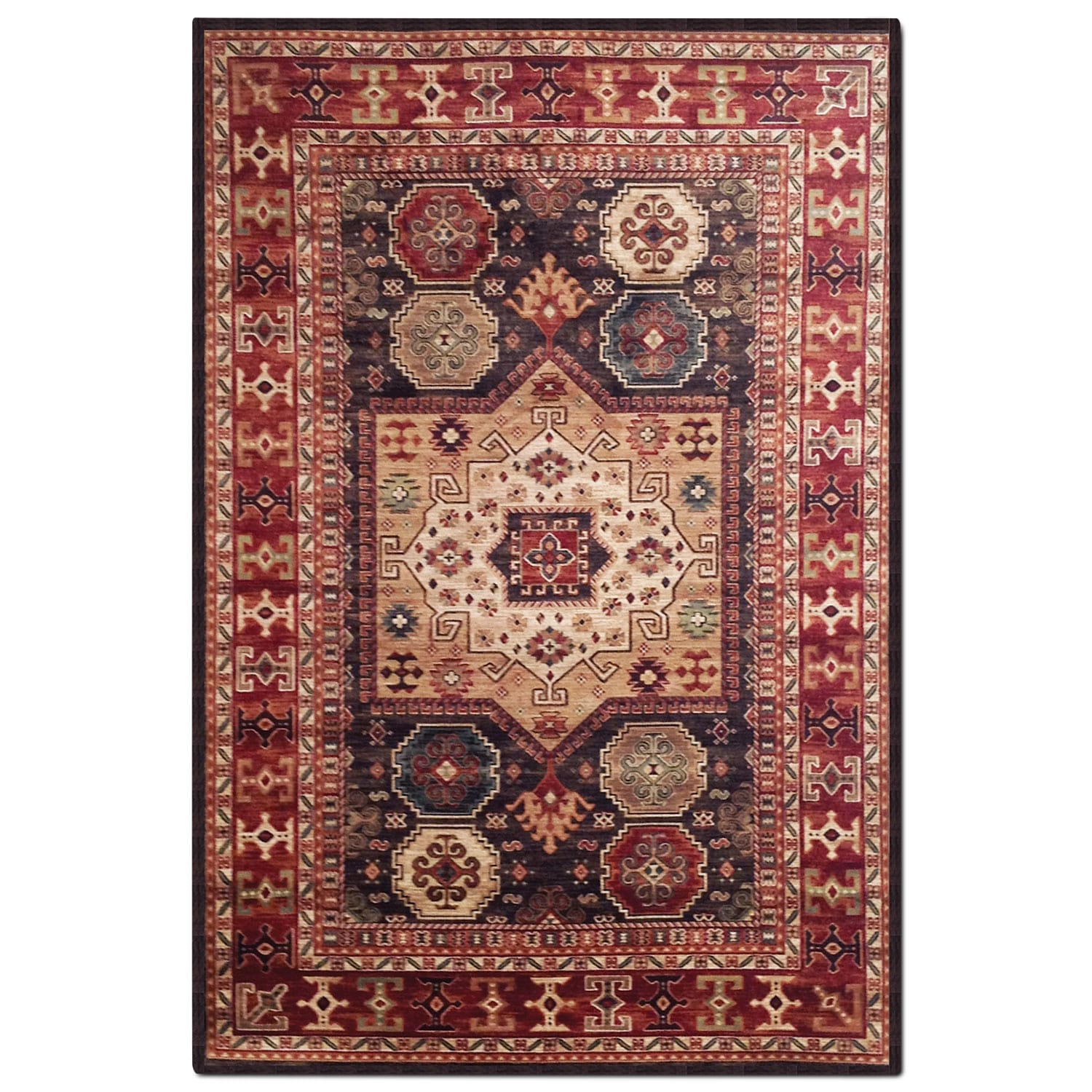Sonoma 5 X 8 Area Rug Chocolate And Red Value City
