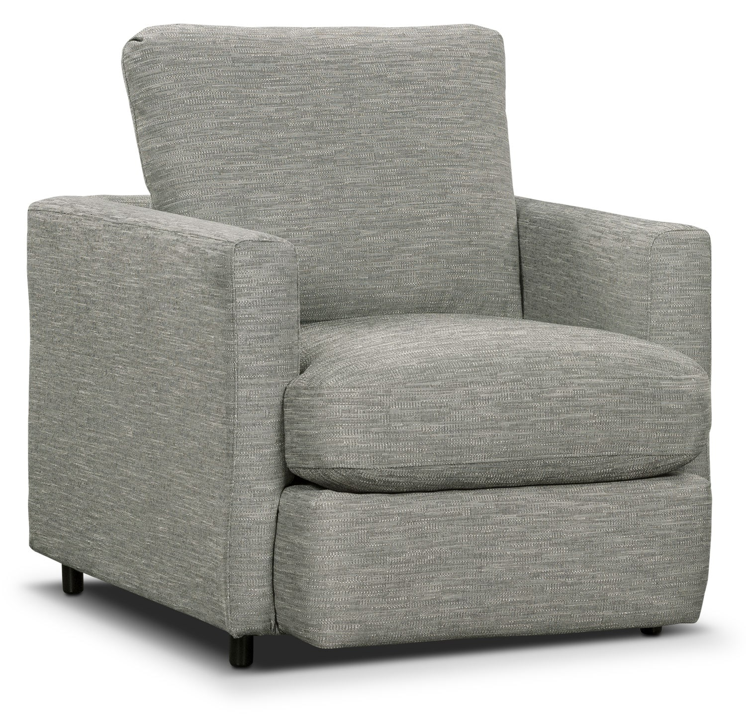 Living Room Furniture - Urbana Chenille Studio-Size Chair - Light Grey