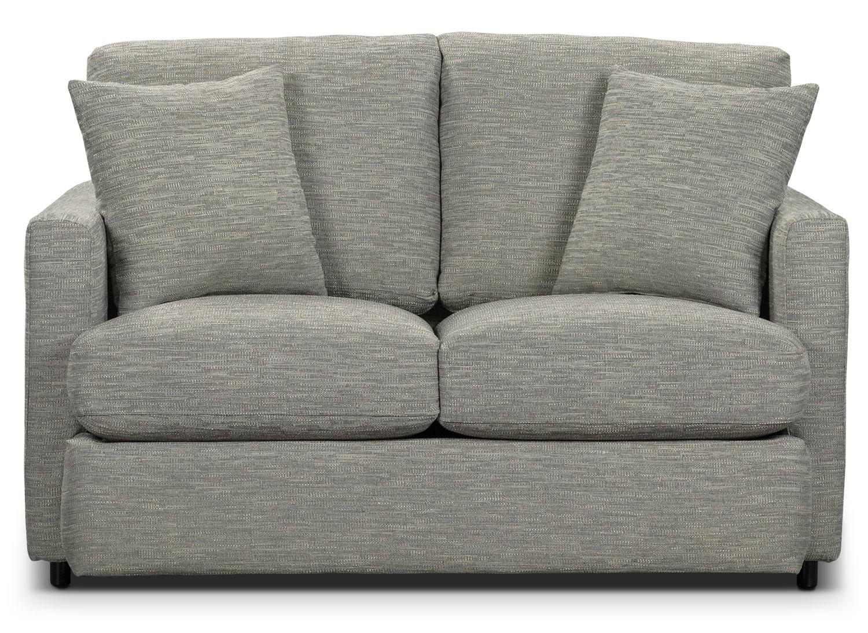 Living Room Furniture - Urbana Chenille Studio-Size Loveseat - Light Grey