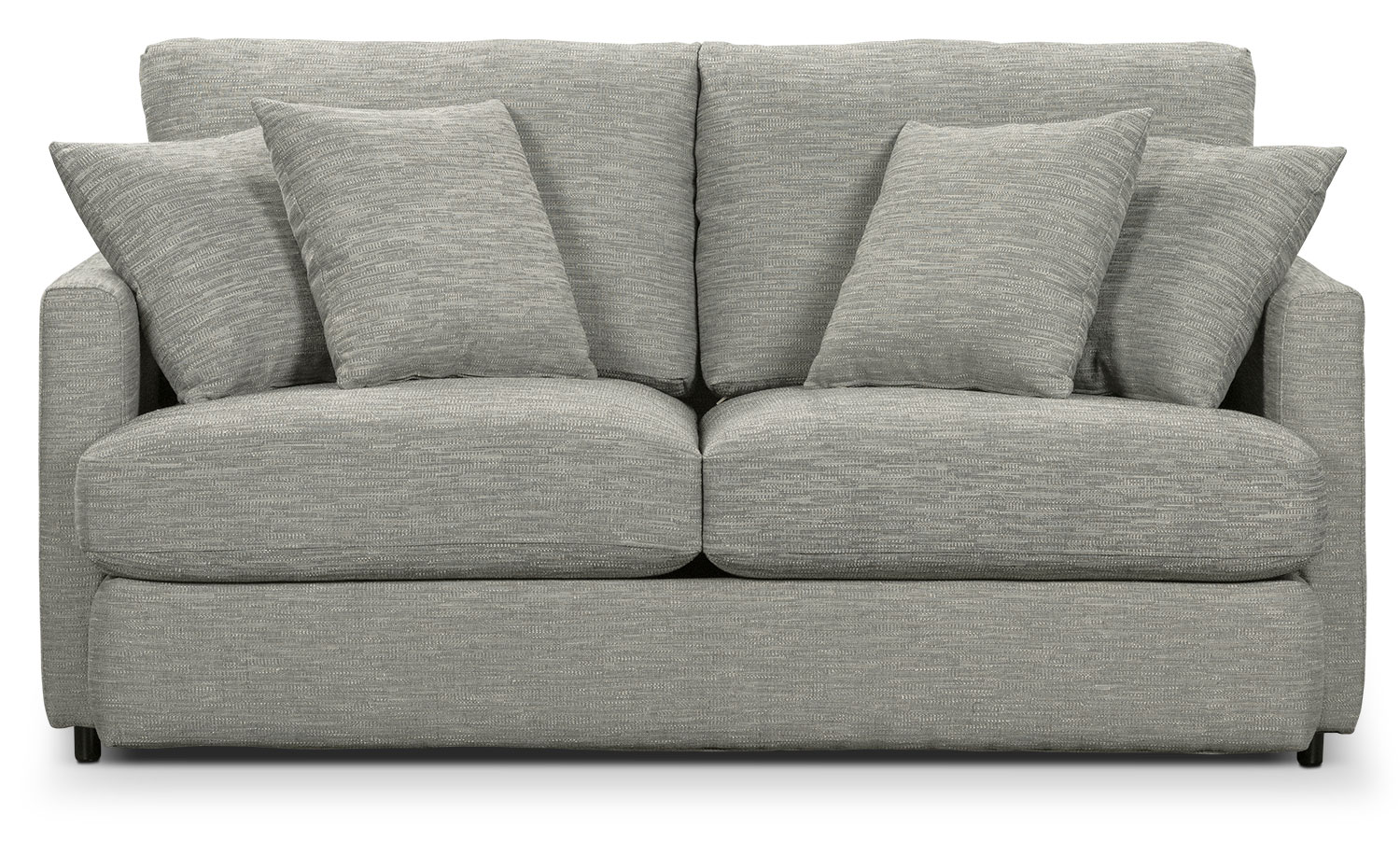 Living Room Furniture - Urbana Chenille Full-Size Sofa Bed - Light Grey