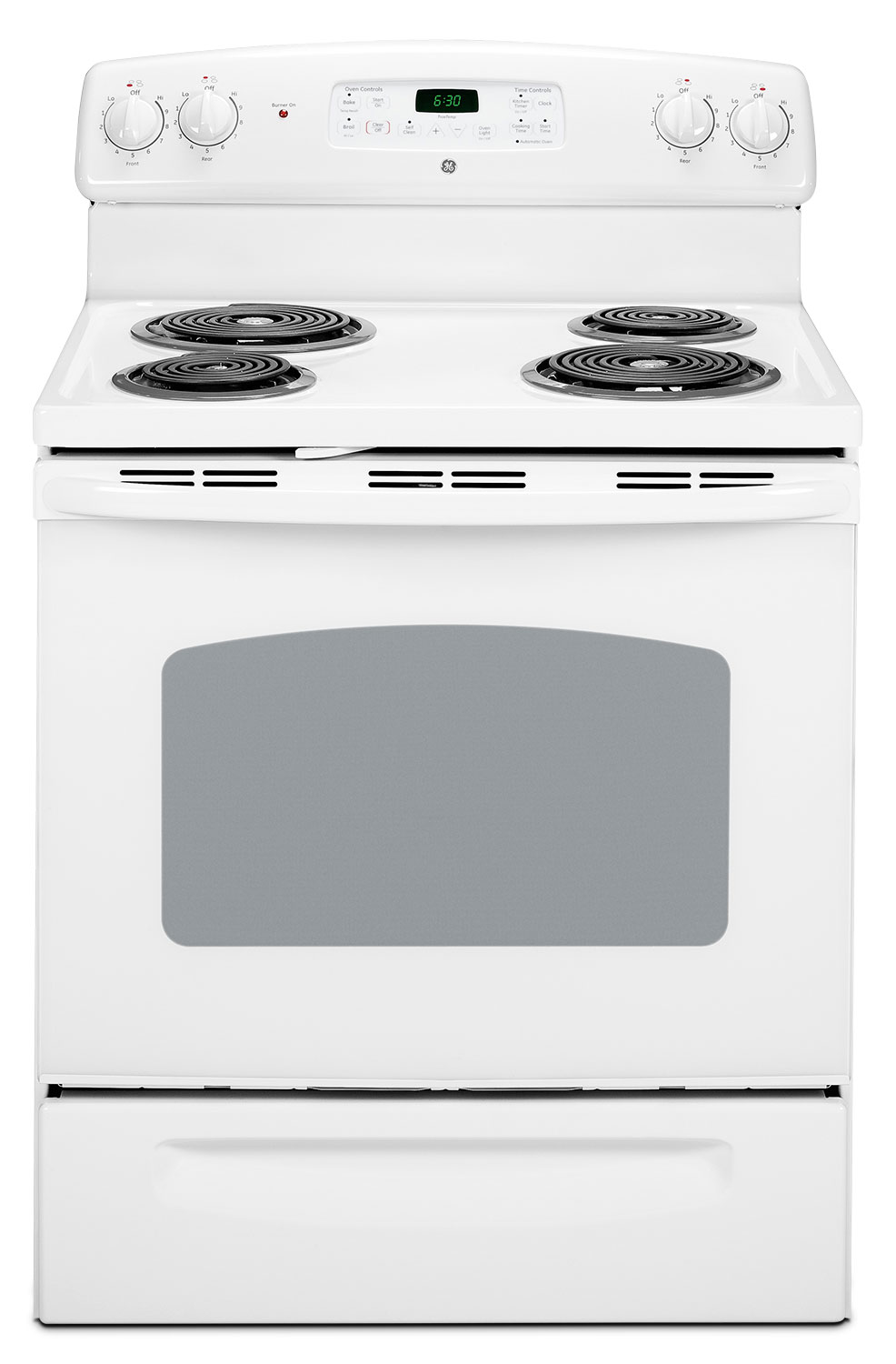 Cooking Products - GE 5.9 Cu. Ft. Freestanding Electric Range – JCBP240DTWW