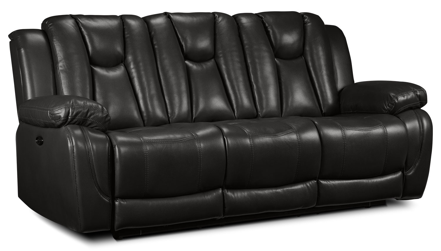 Living Room Furniture - Knight Power Reclining Sofa - Grey