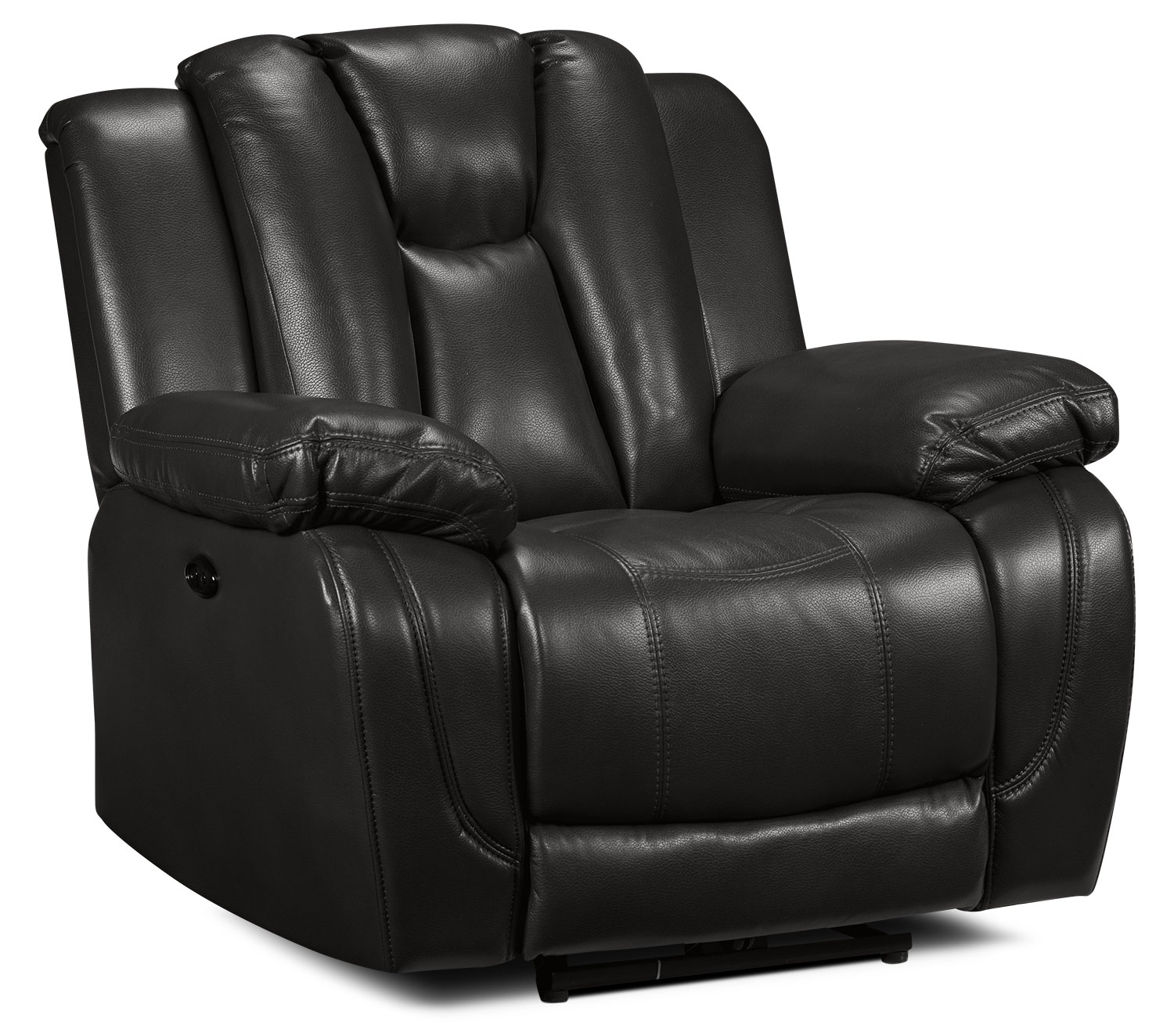 Living Room Furniture - Knight Power Recliner - Grey