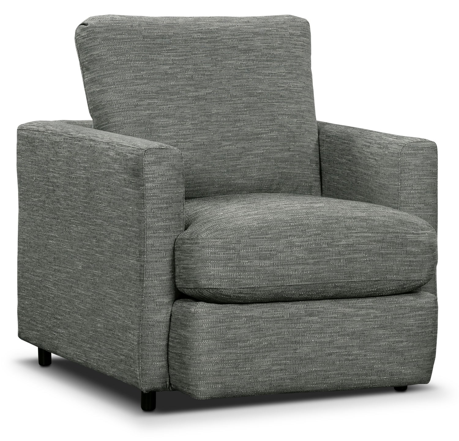 Living Room Furniture - Urbana Chenille Studio-Size Chair - Dark Grey