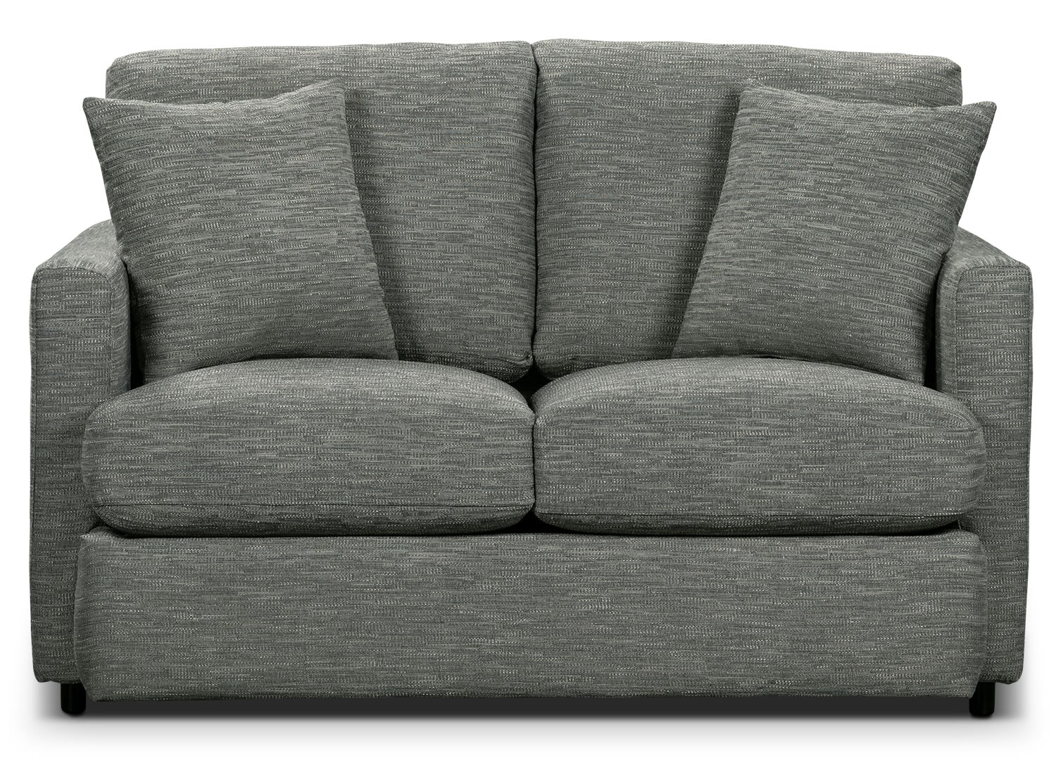 Living Room Furniture - Urbana Chenille Studio-Size Loveseat - Dark Grey