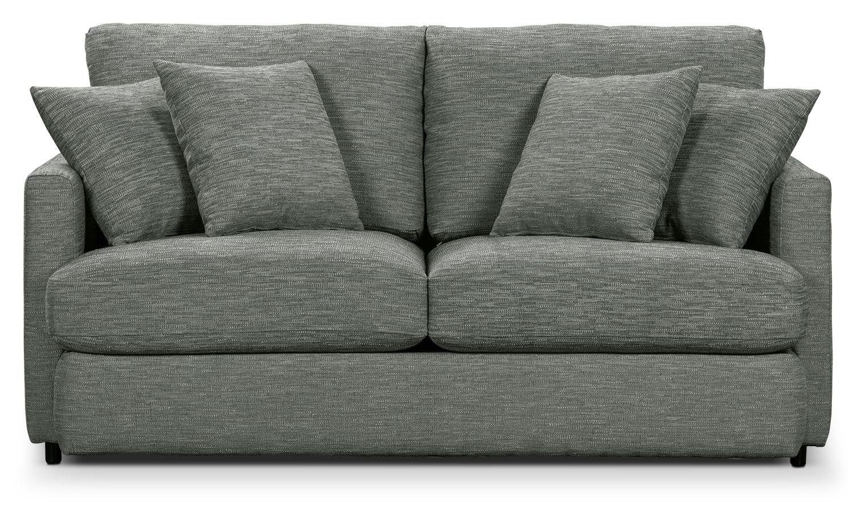 Urbana Chenille Studio-Size Sofa - Dark Grey