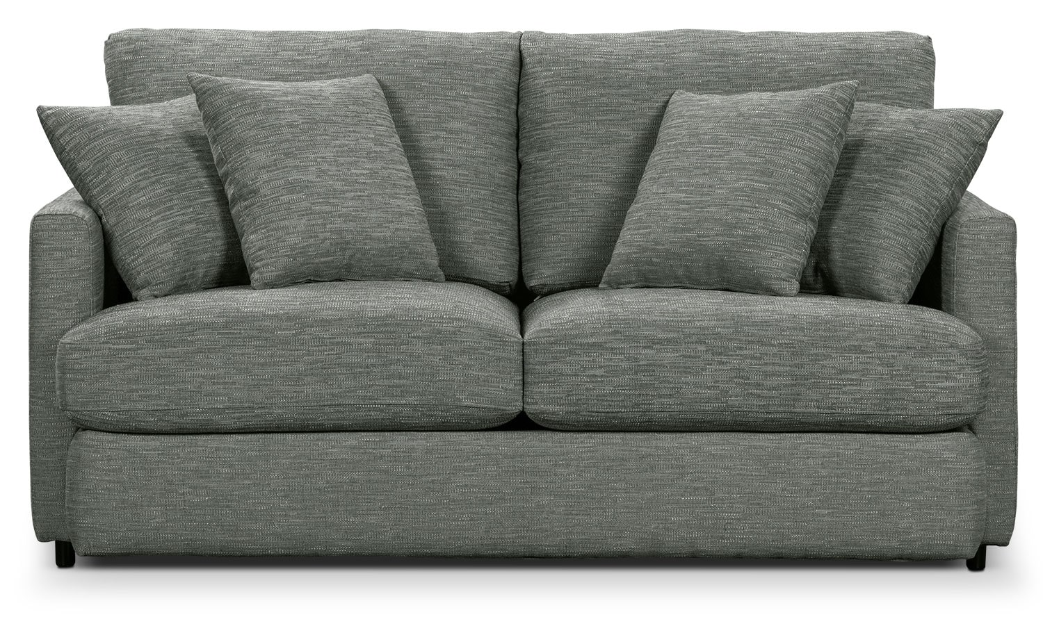 Living Room Furniture - Urbana Chenille Studio-Size Sofa - Dark Grey