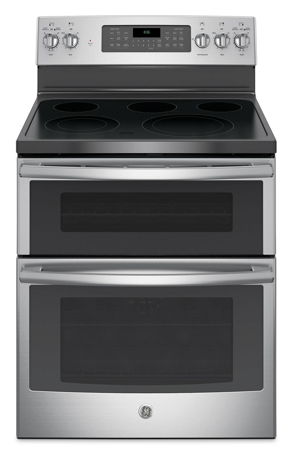 Cooking Products - GE 6.6 Cu. Ft. Freestanding Double Oven Electric Range – JCB865SJSS