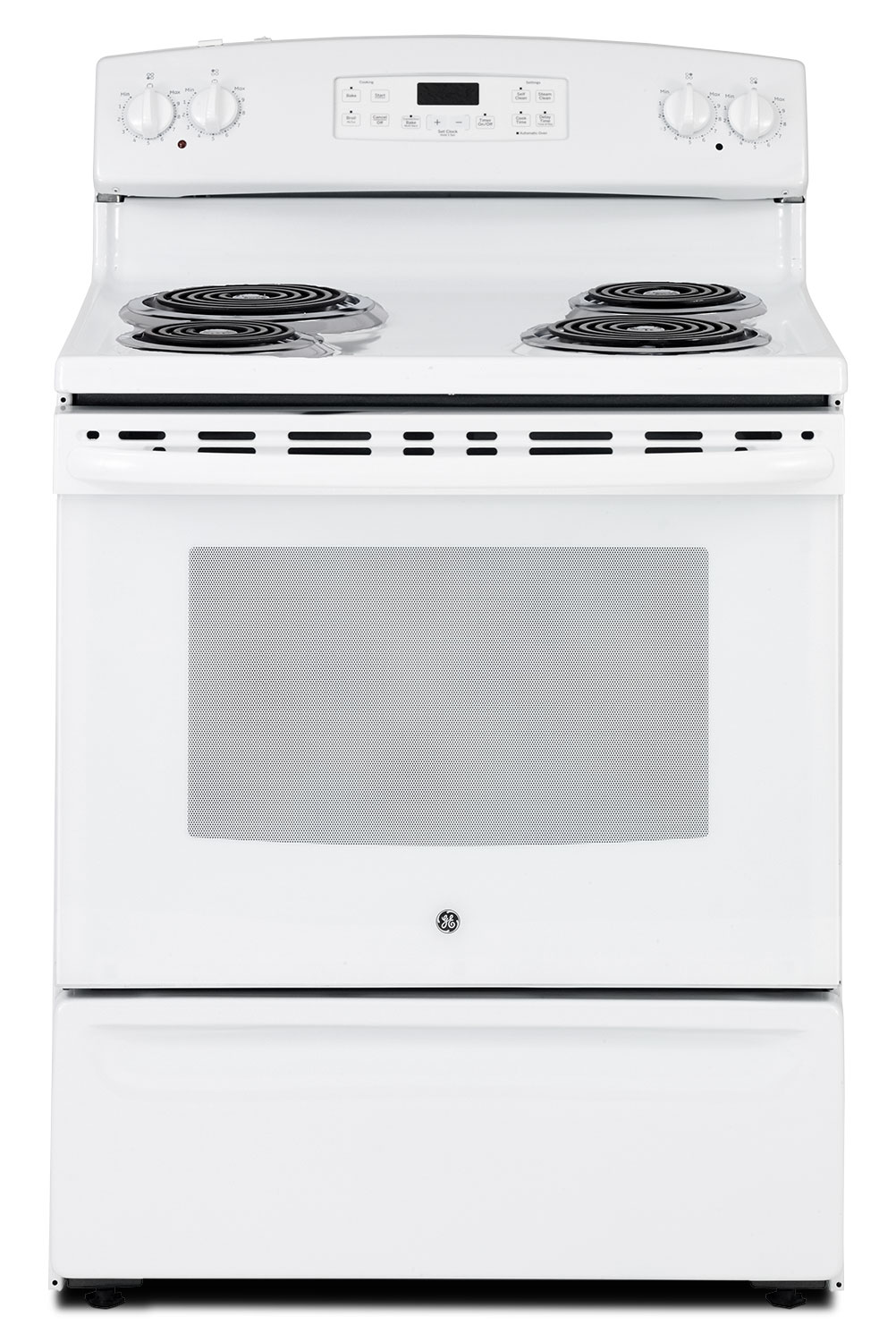 GE 5.0 Cu. Ft. Freestanding Electric Range – JCB560DJWW