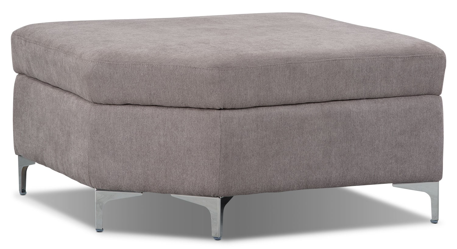 London Linen-Look Fabric Storage Ottoman – Dove