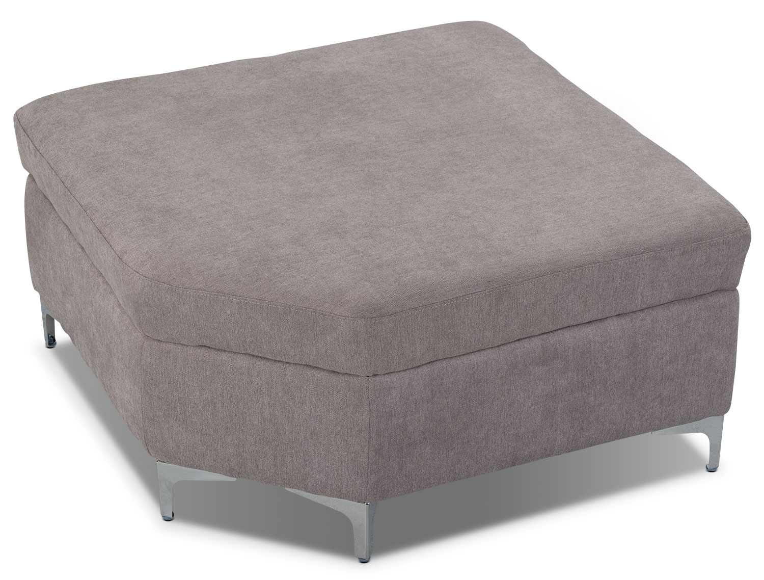 London linen look fabric storage ottoman dove the brick for Storage ottomans fabric