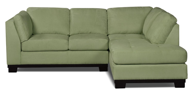 Sofa sectionnel de droite oakdale 2 pi ces en microsu de for Sofa en liquidation