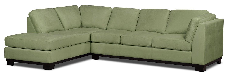 Sofa sectionnel de gauche oakdale 2 pi ces en microsu de avec sofa lit poir - Sofa lit liquidation ...