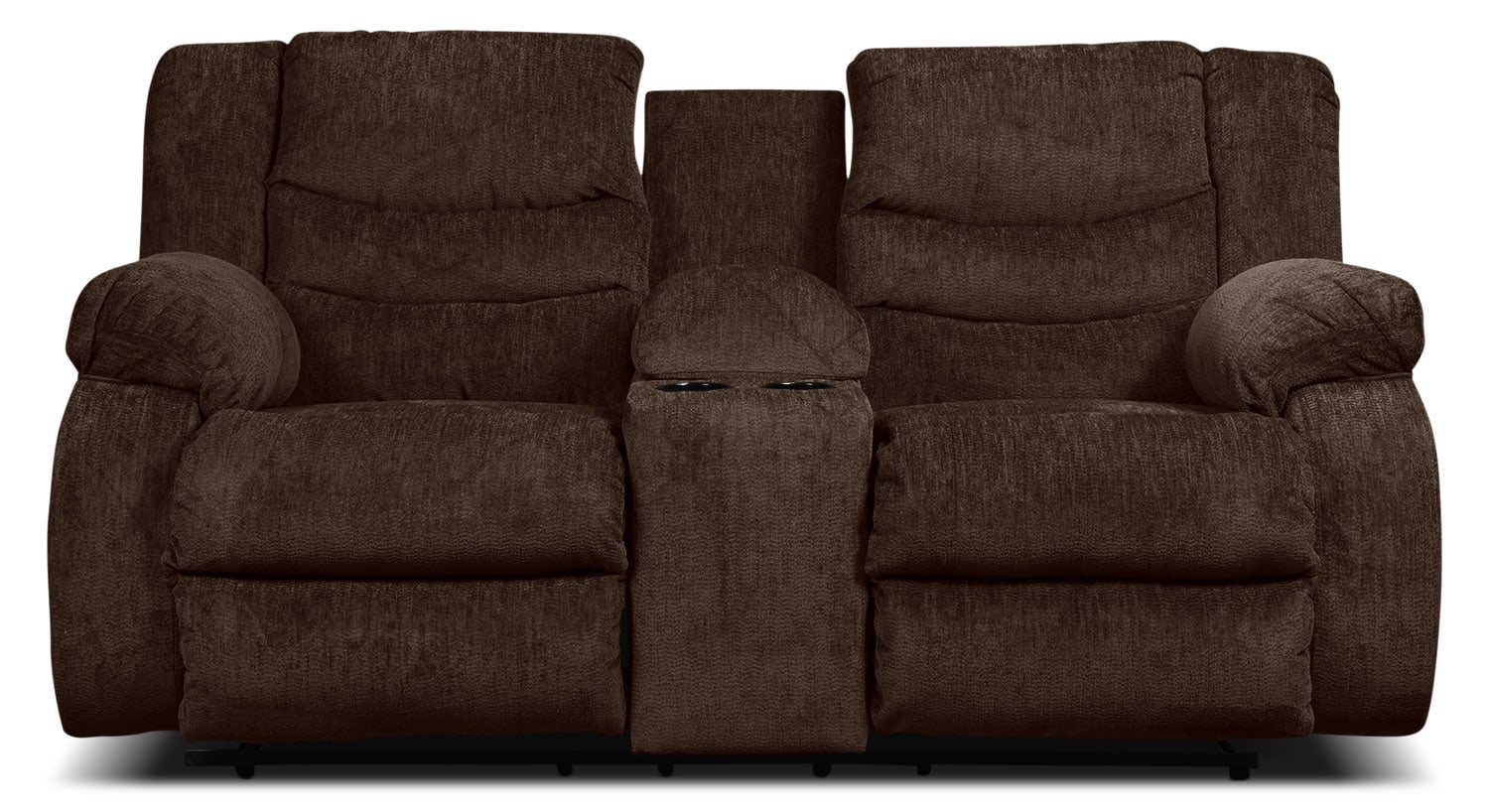 Aidan Reclining Loveseat with Storage Console - Cocoa