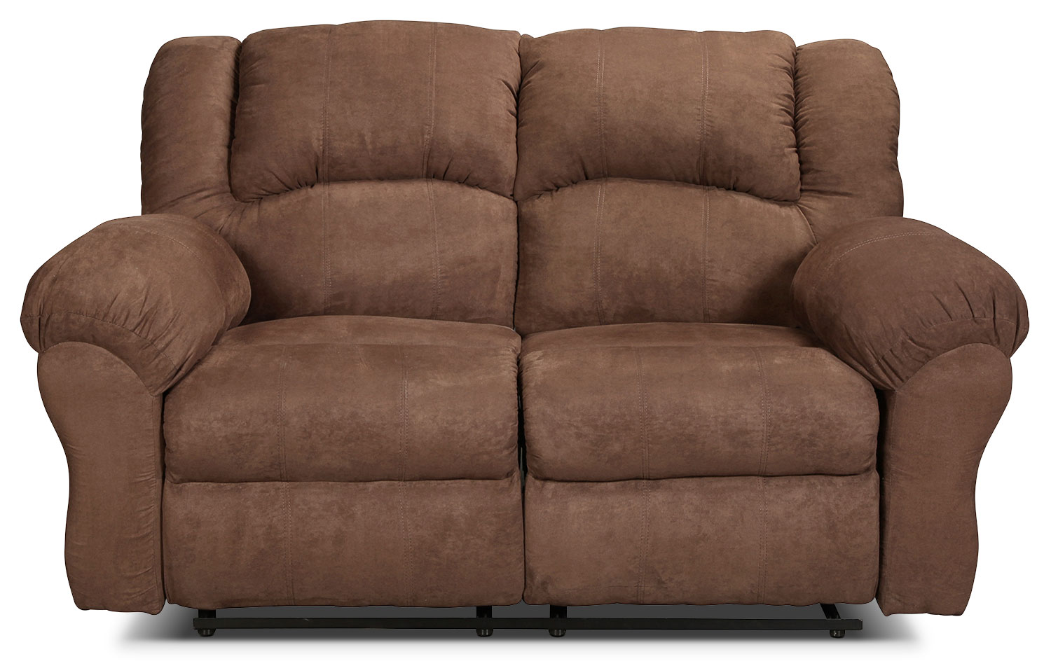Living Room Furniture - Decker Reclining Loveseat - Chocolate