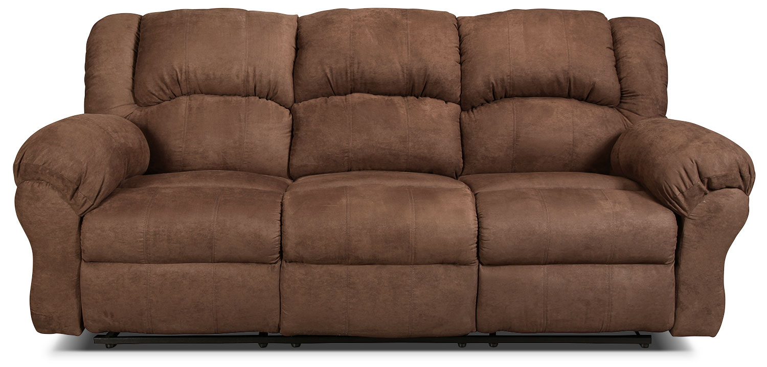 Decker Reclining Sofa - Chocolate