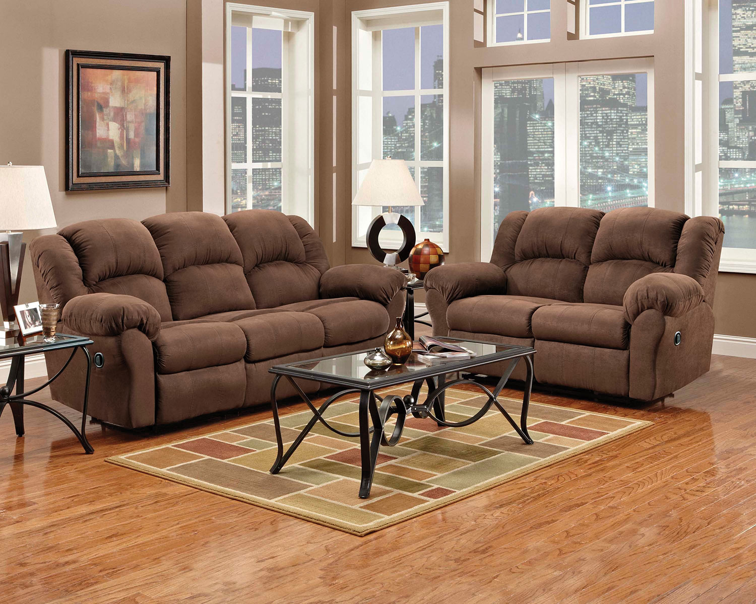 Hover/Touch to Zoom - Decker Reclining Sofa - Chocolate Levin Furniture