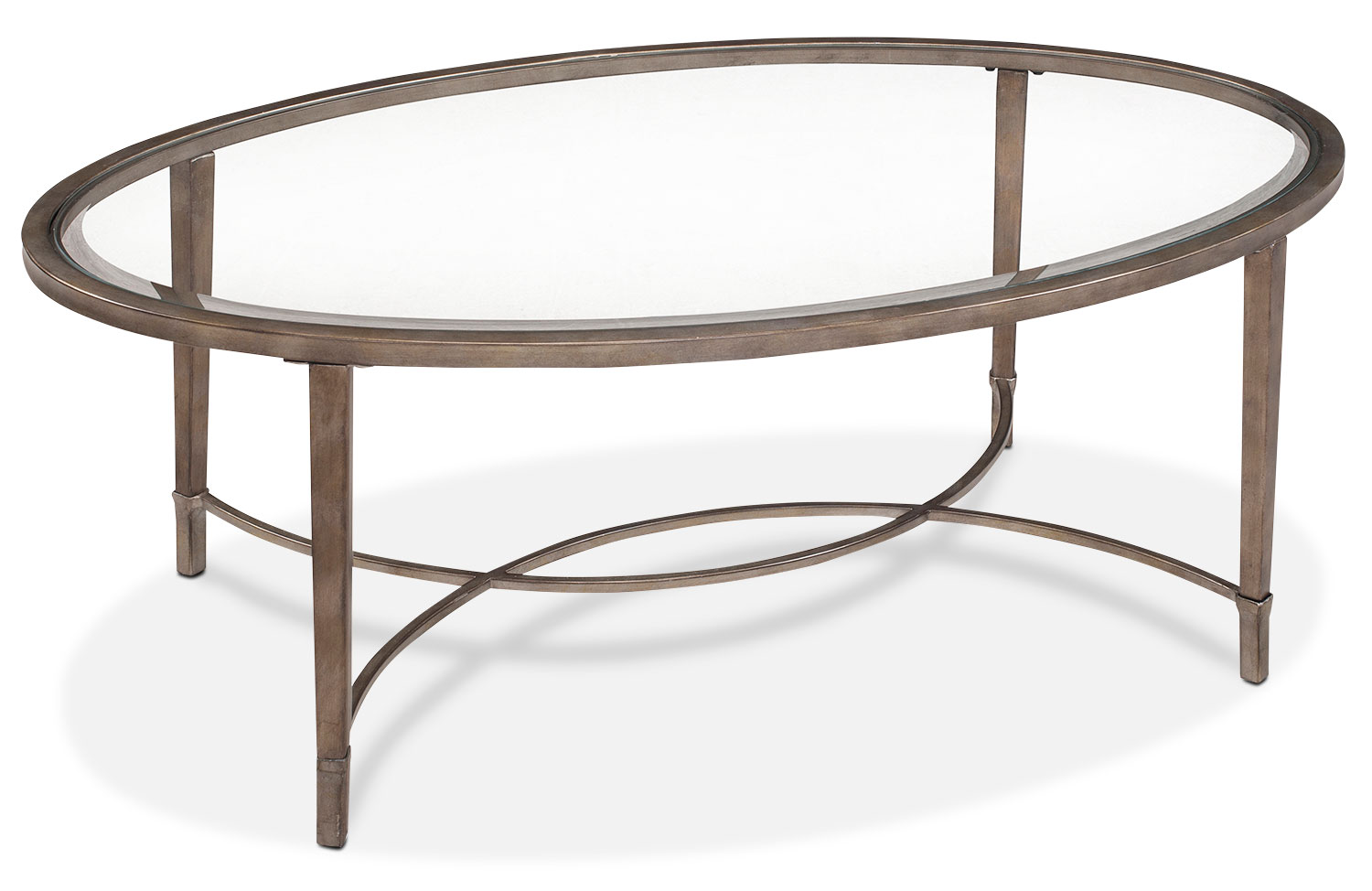 Online Only - Copia Coffee Table - Glass and Gold