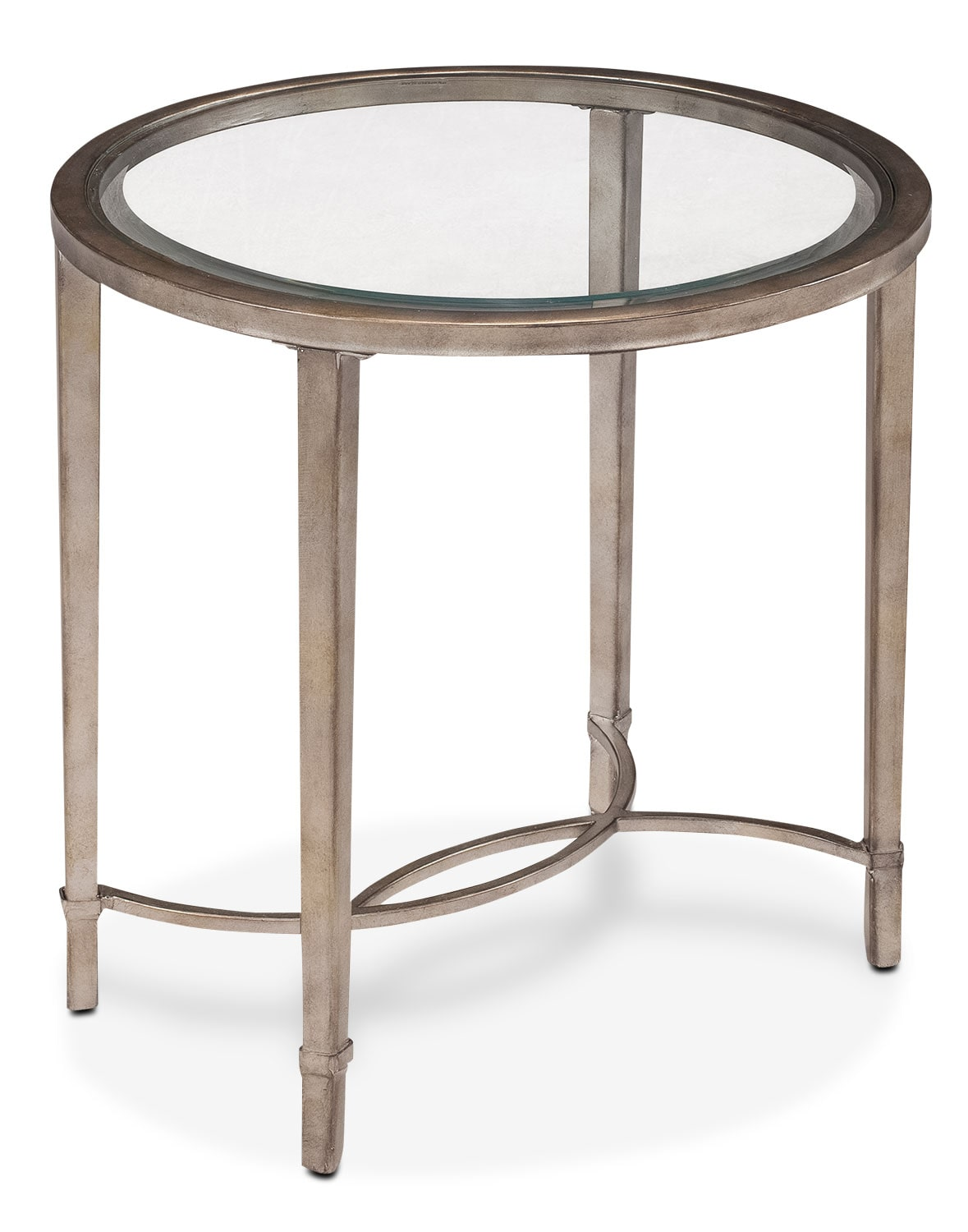 Online Only - Copia End Table - Glass and Gold