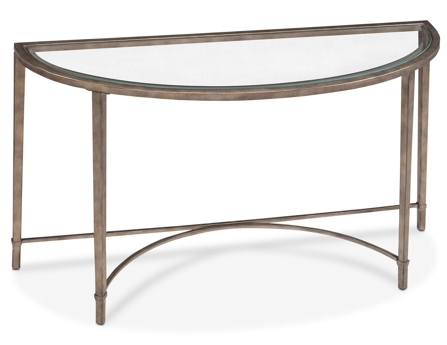 Online Only - Copia Sofa Table - Glass and Gold